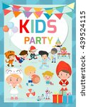 kids party design template ...   Shutterstock .eps vector #439524115