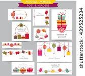 creative social media post and... | Shutterstock .eps vector #439525234