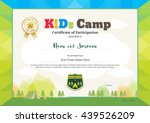 colorful and modern certificate ... | Shutterstock .eps vector #439526209