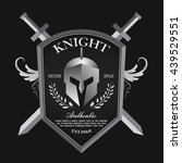 knight shield and helmet... | Shutterstock .eps vector #439529551