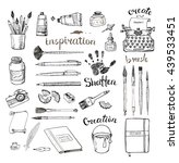 sketches of artist's and... | Shutterstock . vector #439533451