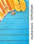 Summer Beach Objects Border ...