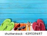 Summer Beach Objects Horizontal ...