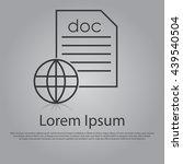 vector icon of online documents ... | Shutterstock .eps vector #439540504