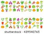 set of vegetable icons. | Shutterstock .eps vector #439540765