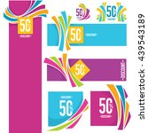 vector collection of bright...   Shutterstock .eps vector #439543189