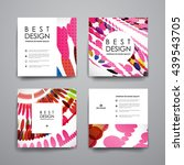 set of brochure  poster design... | Shutterstock .eps vector #439543705