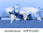 map global connection concept... | Shutterstock . vector #439551565