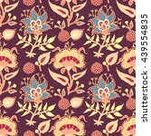 indian national paisley... | Shutterstock .eps vector #439554835