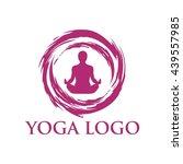 yoga logo template | Shutterstock .eps vector #439557985