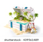 fantastic tropical island with... | Shutterstock . vector #439561489