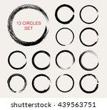 vector grunge circles. grunge... | Shutterstock .eps vector #439563751