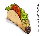 taco  color picture | Shutterstock .eps vector #439565944