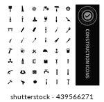 construction icon set vector | Shutterstock .eps vector #439566271