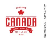 happy canada day poster template | Shutterstock .eps vector #439567429
