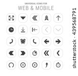 25 universal icon set. simple... | Shutterstock .eps vector #439568791