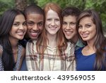 teenage friends spending time... | Shutterstock . vector #439569055