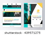 layout design template  annual... | Shutterstock .eps vector #439571275