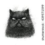black cat illustration on white ... | Shutterstock . vector #439571599