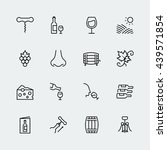 wine related vector icon set in ... | Shutterstock .eps vector #439571854