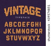 vintage typeface  retro style... | Shutterstock .eps vector #439574851