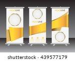 roll up banner design template. ... | Shutterstock .eps vector #439577179