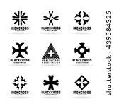 set of crosses and logo design... | Shutterstock .eps vector #439584325