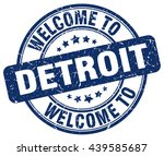 welcome to detroit. stamp | Shutterstock .eps vector #439585687