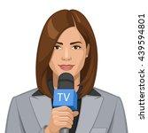 profession  reporter | Shutterstock .eps vector #439594801