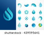 set of water  wave and drop