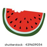 slice of watermelon with bite... | Shutterstock .eps vector #439609054