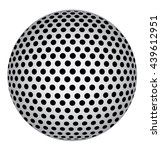 abstract 3d sphere with black... | Shutterstock .eps vector #439612951
