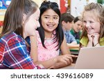 group of elementary school... | Shutterstock . vector #439616089