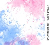 watercolor background for... | Shutterstock . vector #439619614