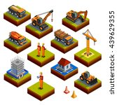 construction isometric isolated ... | Shutterstock .eps vector #439629355