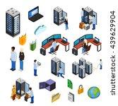 datacenter isometric icons set... | Shutterstock .eps vector #439629904