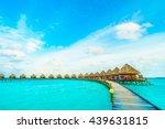 beautiful tropical maldives... | Shutterstock . vector #439631815