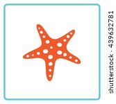 starfish color icon. vector.... | Shutterstock .eps vector #439632781