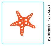 starfish color icon. vector.... | Shutterstock .eps vector #439632781