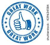 great work rubber stamp vector... | Shutterstock .eps vector #439634584