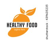 healthy food logo template | Shutterstock .eps vector #439635235