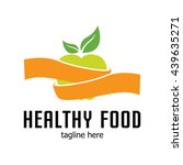 healthy food logo template | Shutterstock .eps vector #439635271