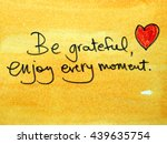 inspirational message be... | Shutterstock . vector #439635754