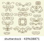 ornamental design elements ... | Shutterstock .eps vector #439638871