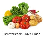 vegetables isolated on a white... | Shutterstock . vector #439644055