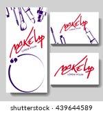 makeup business card. make up... | Shutterstock .eps vector #439644589