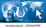 internet communication world... | Shutterstock . vector #43964959