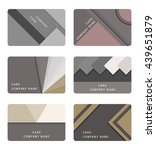 vector set card and banners in...