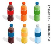 drinks in bottles. set of... | Shutterstock .eps vector #439654525