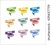 set of colorful tags big sale | Shutterstock .eps vector #439657759